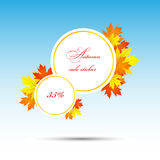 Autumn sale sticker Stock Images