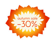 Autumn sale sticker. Vector illustration. EPS 10 Royalty Free Illustration