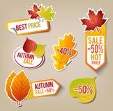 Autumn Sale Stickers Royaltyfri Fotografi