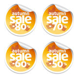 Autumn sale stickers Stock Photo