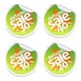 Autumn sale stickers set Stock Image