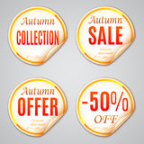 Autumn Sale Stickers Royalty Free Stock Images