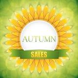Autumn sale Stock Photography