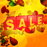 Autumn sale tabs background Royalty Free Stock Image