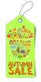 Autumn sale tag Stock Photo
