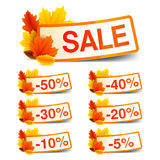 Autumn Sale Tags Stock Images
