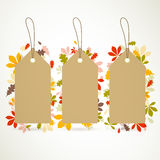 Autumn Sale Tags Royalty Free Stock Image
