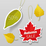 Autumn sale tags 01 Stock Image