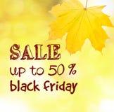 Autumn sale text Stock Image