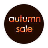 Autumn sale text vector banner with colorful seasonal fall leaves. Vector illustration. Autumn sale text vector banner with colorful seasonal fall leaves in Royalty Free Stock Images