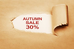 Autumn Sale Thirty Percent Off Lizenzfreie Stockbilder