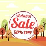 Autumn sale vector banner Stock Image