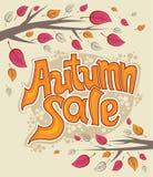 Autumn sale. Stock Images