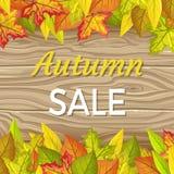 Autumn Sale Vector Concept im flachen Design stock abbildung