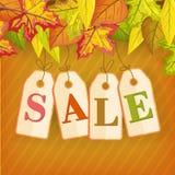 Autumn Sale Vector Concept im flachen Design lizenzfreie abbildung