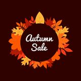 Autumn sale vector design inspiration vector illustration