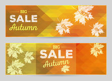 Autumn Sale vector horizontal banners Stock Image