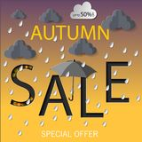 Autumn Sale Vector illustration stock illustration