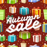 Autumn sale vector illustration Royalty Free Stock Image