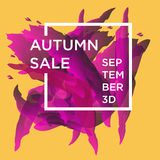 Autumn Sale. Sale web banners template for special offers advertisement. Trendy colors in a modern material design style. New autumn collection concept for Stock Photo