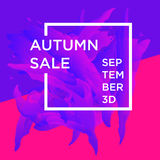 Autumn Sale. Sale web banners template for special offers advertisement. Trendy colors in a modern material design style. New autumn collection concept for Royalty Free Stock Photo