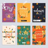 Autumn sale website banners web template collection. Can be used. For mobile website banners, web design, posters, email and newsletter designs Stock Photo