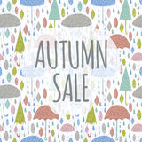 Autumn Sale On White Stockfotos