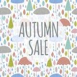 Autumn Sale On White Stock Photos