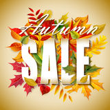 Autumn sale. For your design royalty free illustration
