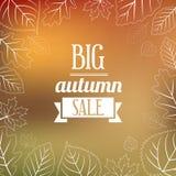Autumn Sales Background Fotos de archivo libres de regalías