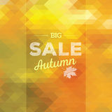 Autumn Sales Background Royaltyfri Fotografi