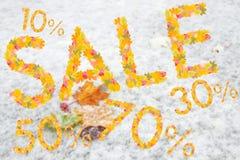 Autumn Sales Background arkivbild