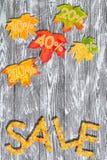Autumn Sales Background Stock Image