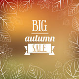 Autumn Sales Background Royalty Free Stock Photos