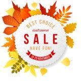 Autumn Sales Banner illustration stock