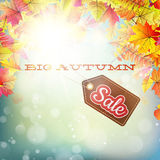 Autumn Sales Banner Fotografie Stock