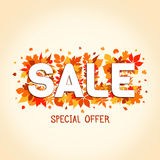 Autumn Sales Banner Photographie stock