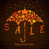 Autumn Sales Banner Fotos de archivo