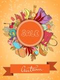 Autumn Sales Banner Illustration Libre de Droits
