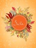 Autumn Sales Banner Illustration de Vecteur