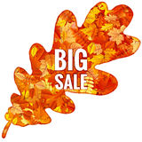 Autumn Sales Banner With Colorful sidor 10 eps stock illustrationer