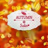 Autumn Sales Banner EPS 10 Imágenes de archivo libres de regalías