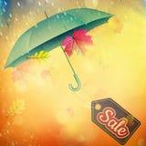 Autumn Sales Banner Eps 10 Foto de Stock