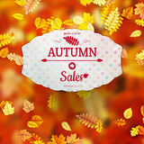 Autumn Sales Banner. EPS 10 Royalty Free Stock Images