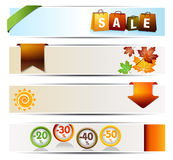 Autumn Sales Banners. For Web Or Print Royalty Free Stock Photo