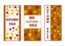 Autumn Sales Banners Foto de archivo libre de regalías