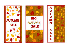 Autumn sales banners. Royalty Free Stock Photo