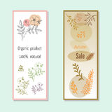 Autumn sales banners. Vector illustration Stock Photo