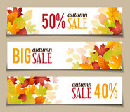 Autumn Sales Banners. For web or print Royalty Free Stock Photography