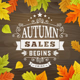 Autumn sales begins business background Stock Photo